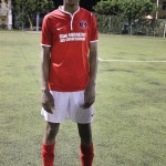 Charlton Athletic midfielder Kareem Isiaka scored a hattrick to give his side a 3-1 victory over the Cayman Islands B Select Team in the CAL Cup last night